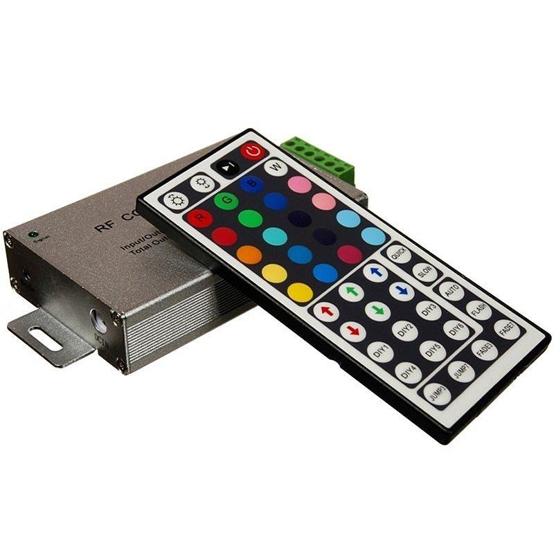 Контроллер RGB 24A (12V-24V, 288W-576W) пульт управления цветом 24 кнопки (радио сигнал)